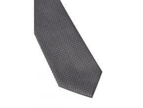 Úzká hedvábná kravata Eterna - šedá s jemnou strukturou