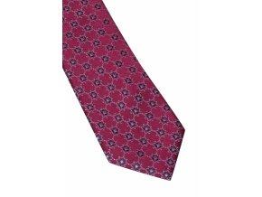 Úzká hedvábná kravata Eterna - bordó se vzorem