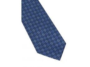 Hedvábná kravata Eterna - navy s modrými kvítky
