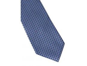 Hedvábná kravata Eterna - modrá s jemnou strukturou