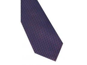 Hedvábná kravata Eterna - modrá / červená s jemnou strukturou