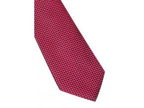 Hedvábná kravata Eterna - červená s jemnou strukturou