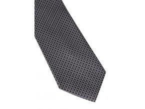 Hedvábná kravata Eterna - černá s jemnou strukturou