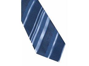 Hedvábná kravata Eterna - modrá s pruhy
