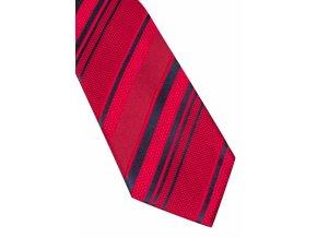 Hedvábná kravata Eterna - červená s pruhy