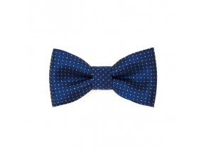 Mini motýlek Avantgard - modrý / bílé tečky