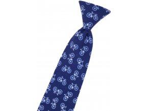 Chlapecká kravata Avantgard Young - modrá / kola