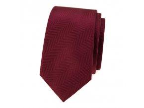 Úzká luxusní kravata Avantgard - bordó