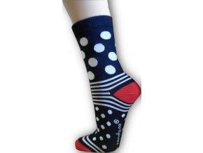 Puntíkaté ponožky - červené