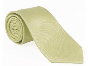 Hedvábná kravata Brinkleys - smetanová XXL