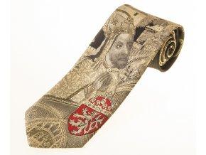 Kravata Karlštejn - zlatá / černá