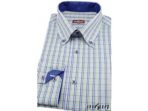 Kombinovaná košile Avantgard Slim - modrozelená