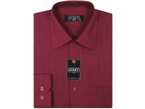 Pánská košile AMJ Fil-á-fil Comfort fit Vínová