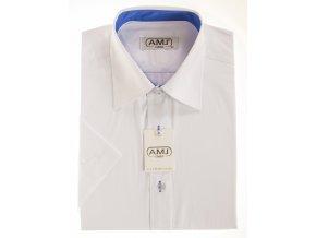 Pánská košile AMJ Classic s krátkým rukávem - bílá