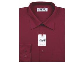 Pánská košile AMJ Comfort fit - vínová