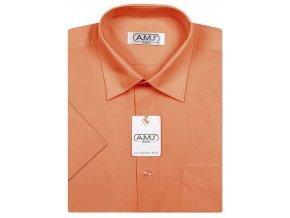 Pánská košile AMJ Classic s krátkým rukávem - oranžová