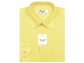 Pánská košile AMJ Classic - světle žlutá