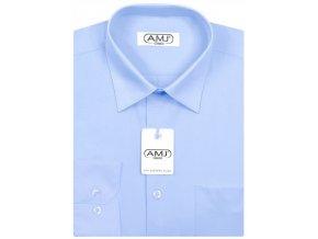 Pánská košile AMJ Comfort fit - modrá/azurová