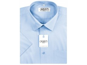 Pánská košile AMJ Classic s krátkým rukávem - azurová