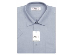 Pánská košile AMJ Classic s krátkým rukávem - holubí šeď