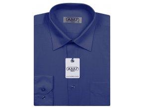 Pánská košile AMJ Classic - tmavě modrá