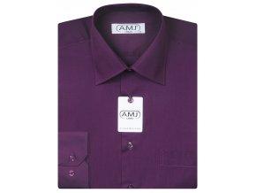 Pánská košile AMJ Classic - tmavě fialová