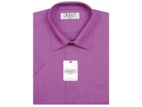 Pánská košile AMJ Classic s krátkým rukávem - fuchsie