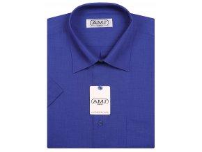 Pánská košile AMJ Classic s krátkým rukávem - královská modrá