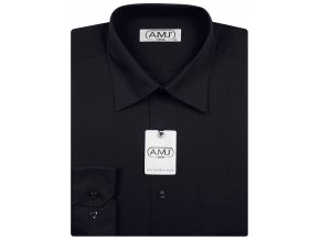 Pánská košile AMJ Classic - černá