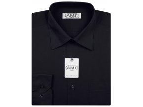 Pánská košile AMJ Comfort fit - černá