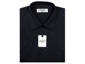 Pánská košile AMJ Classic s krátkým rukávem - černá