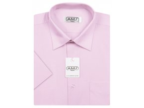 Pánská košile AMJ Classic s krátkým rukávem - světle fialová