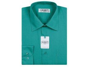 Pánská košile AMJ Comfort fit - petrolejová