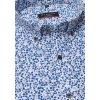"Košile Eterna Modern Fit ""Krep"" s krátkým rukávem Modrá / Bílá"