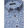 "Košile Comfort Fit ""Krep"" s krátkým rukávem Modrá / Bílá"