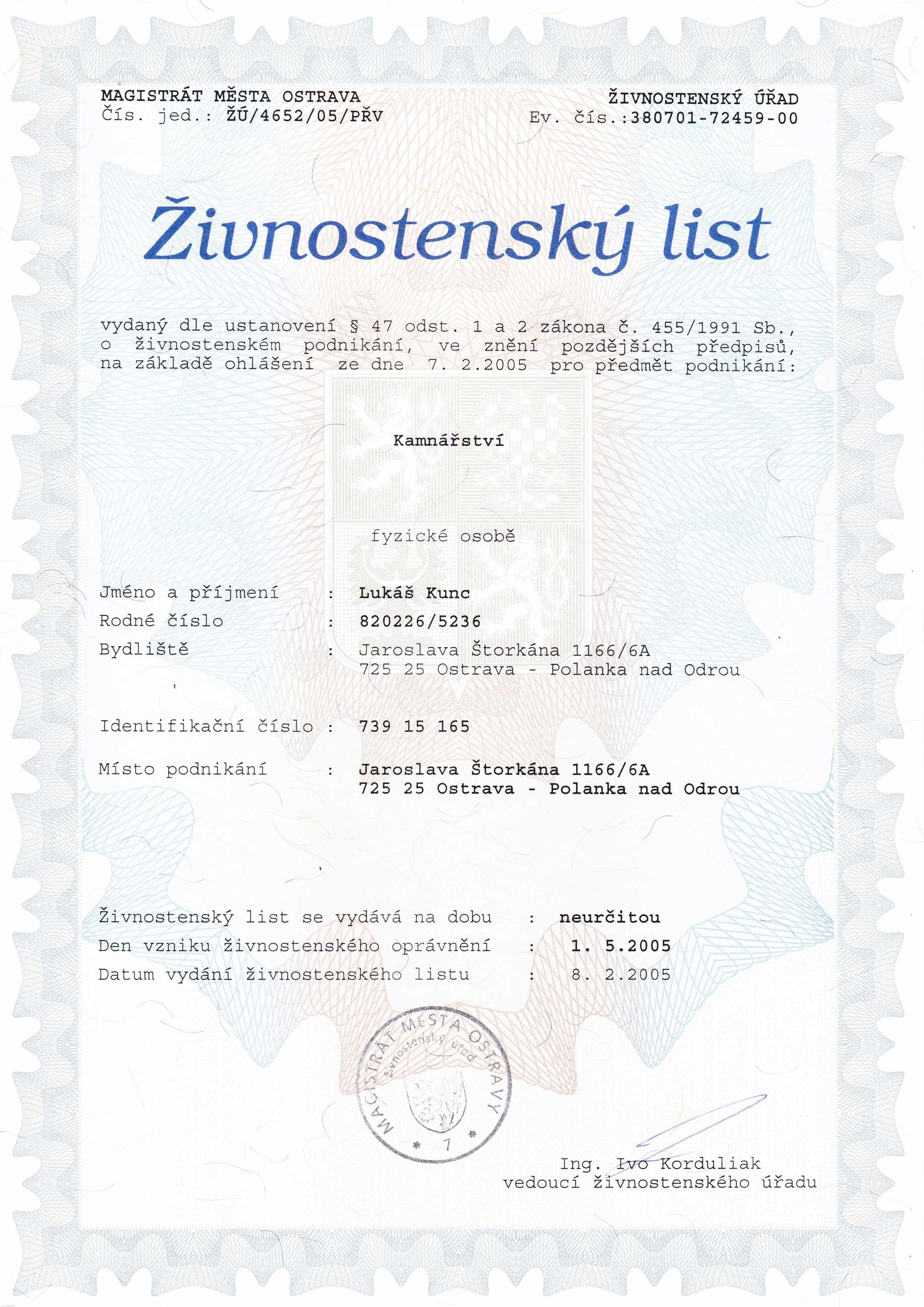zivnostensky_list_lukas_kunc