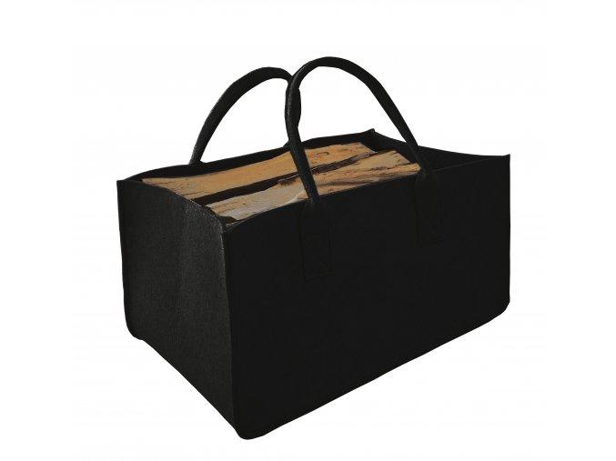 Filcová taška na dřevo černá