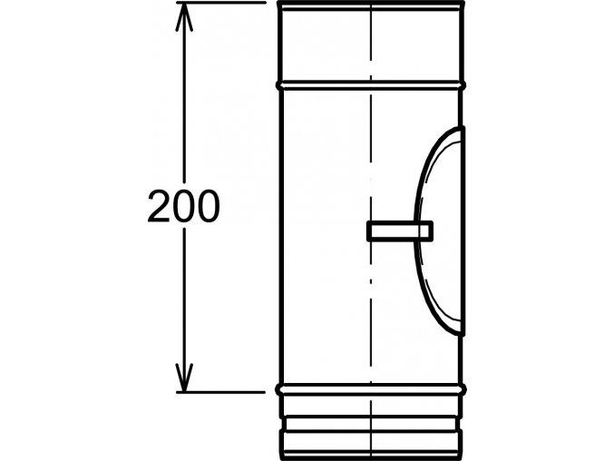 Kouřovod s k.o. 200 mm