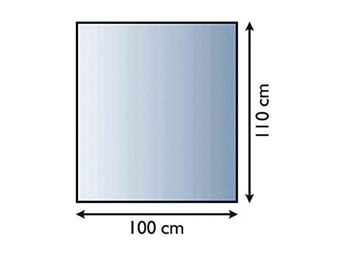 Sklo pod kamna obdélník  100x110 tl. 6 mm