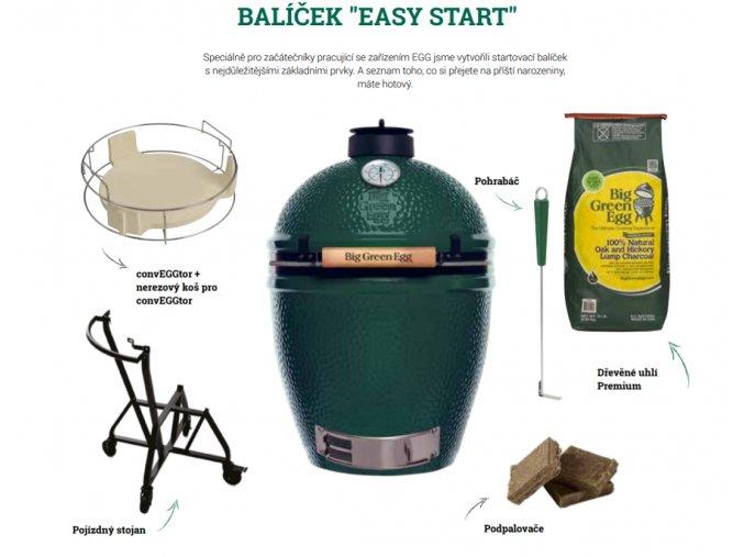 """Big Green Egg MEDIUM balíček """" EASY START"""" - gril a příslušenství - výhodný set"""