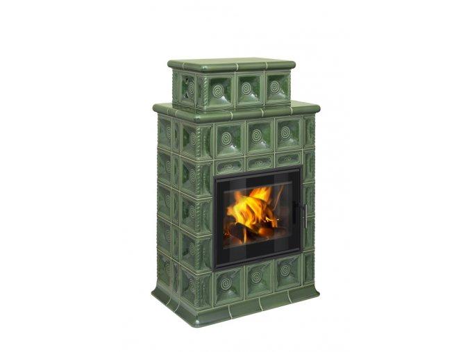 Hein BARACCA 4 TV kachlová kamna s teplovodním výměníkem