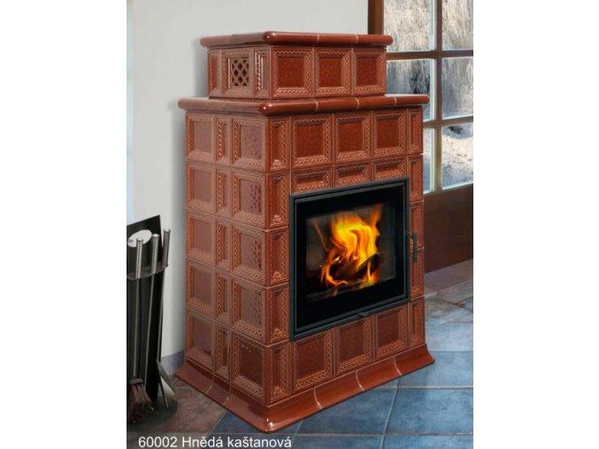 Hein BARACCA 7 TV kachlová kamna s teplovodním výměníkem