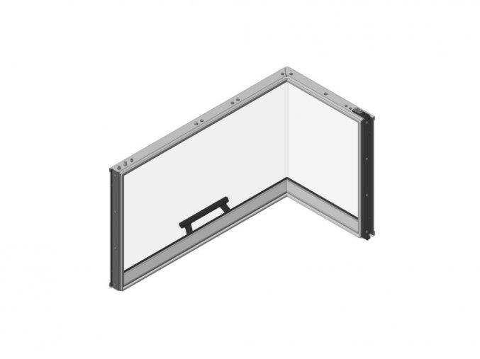 Dveře topeniště pro levou variantu
