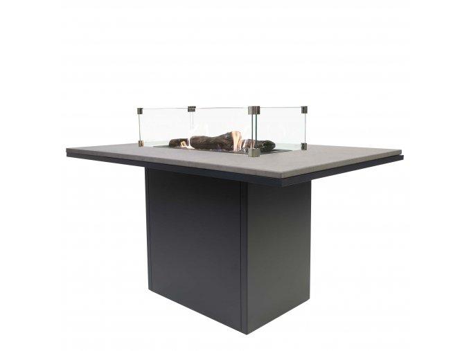 Cosiloft 120 vysoký jídelní stůl černý rám / deska šedá (neobsahuje sklo)