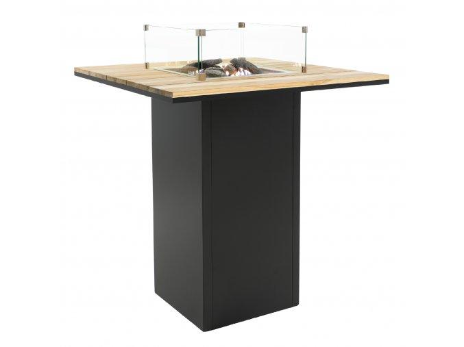 Cosiloft barový stůl černý rám / deska teak
