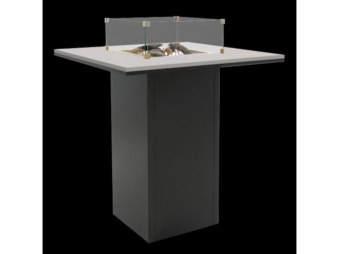 Cosiloft barový stůl černý rám / šedá deska