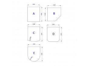 podstavne sklo 6 mm a 8 mm