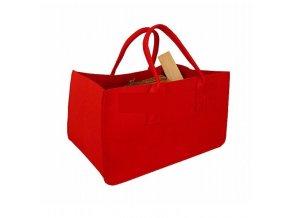 Filcová taška na dřevo červená
