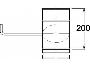 Díl s klapou 200 mm
