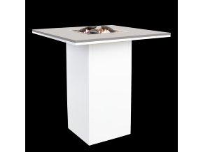 Cosiloft barový stůl bílý rám / šedá deska